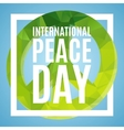 Day of Peace poster vector image vector image