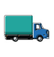 delivery truck transport cargo business vector image