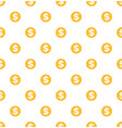 dollar seamless pattern gold coins money profit vector image vector image