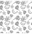 doodle bacteria germs or cartoon monsters hand vector image vector image