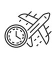 fast air delivery icon outline style vector image vector image