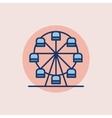 Ferris wheel flat icon vector image
