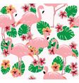 flamingos two vector image vector image
