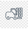 forklift concept linear icon isolated on vector image
