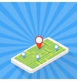 Game Application Concept Gps Map Navigation with vector image