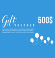 gift voucher style background collection vector image vector image