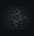gold lotus flower mandala seed life symbol sign vector image vector image