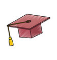 graduation cap design vector image