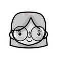 grayscale avatar woman head with hairstyle design vector image vector image