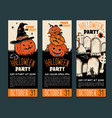 halloween tickets template place for your text vector image vector image