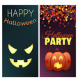 happy halloween and halloween party banners set vector image vector image