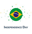 independence day of brazil patriotic banner vector image vector image