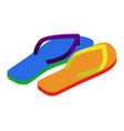 lgbt slippers beach shoes colors of rainbow flag vector image vector image