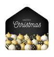 luxury gold merry christmas 2020 card with funny vector image vector image