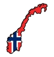 Map in colors of Norway vector image