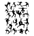 modern dance silhouette vector image vector image