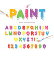 paint flow colorful font cute funny cartoon vector image vector image