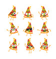 pizza - set of mascot vector image