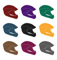 protective helmet for cyclists protection for the vector image vector image