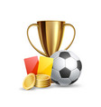 realistic online sports betting trophy ball vector image