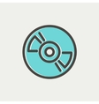 Reel tape deck player recorder thin line icon vector image vector image