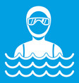 scuba diver man in diving suit icon white vector image vector image