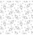 seamless pattern with rockets and stars vector image vector image