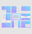 set modern scientific banners vector image vector image