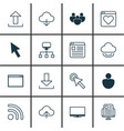 set of 16 world wide web icons includes mouse vector image vector image