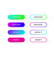 Set of modern gradient app or game buttons trendy