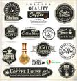 Set of Retro Vintage coffee labels vector image vector image