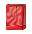 shopping bag market commerce pack image vector image vector image