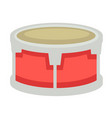 small drum with metal corpus and fabric top vector image vector image