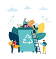 small people are throwing garbage protection vector image
