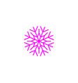 snowflake icon snow pictogram winter symbol vector image vector image