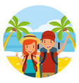 summer time holiday people vector image vector image