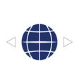 the globe icon globe symbol flat vector image vector image