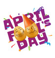 to april fools day with eggs vector image vector image