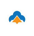 triangle cloud logo technology vector image vector image