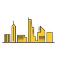 urban skyline line icon concept urban skylin vector image