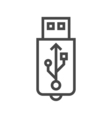 USB Line Icon vector image vector image