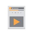 Video Player v4 vector image
