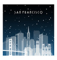 winter night in san francisco night city in flat vector image vector image