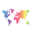 World map wallpaper mosaic of dots in rainbow