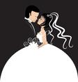 Bride and groom invitation card vector image