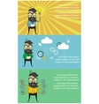 programmer and process coding vector image