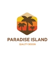 Paradise Island flat logo for your company vector image