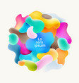 abstract fluid colorful bubbles shapes overlap on vector image vector image