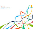 abstract of colorful free shape line geometric vector image