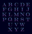 Alphabet with ornament
